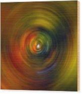 Star Cradle Spin Art Wood Print