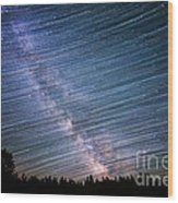 Star Dust Wood Print