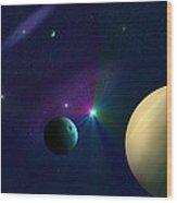Star Dust Wood Print by Ricky Haug