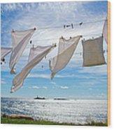 Star Island Clothesline Wood Print