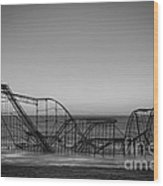 Star Jet Roller Coaster Bw Wood Print