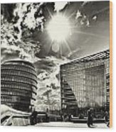 Star Light At City Hall Wood Print