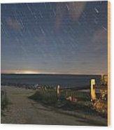 Star Light Point Wood Print
