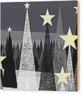 Star Light - Star Bright Wood Print by Val Arie