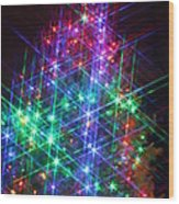 Star Like Christmas Lights Wood Print