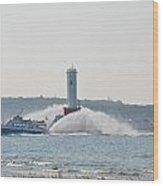 Star Line Ferry Wood Print