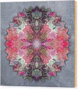 Star Mandala B Wood Print