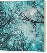 Star Night Wood Print by William Schmid