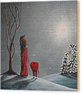Star Of Hope By Shawna Erback Wood Print