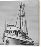 Star Of Monterey In Monterey Harbor Circa 1948 Wood Print