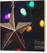 Star Ornament Wood Print
