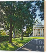Star Over The Mausoleum - Henry And Arabella Huntington Overlooks The Gardens. Wood Print
