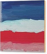 Star Spangled American Landscape Wood Print