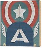 Star-spangled Avenger Wood Print
