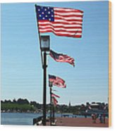 Star Spangled Banner Flags In Baltimore Wood Print