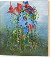 Star Spangled Birdie Wood Print