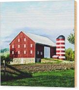 Star Spangled Farm Wood Print