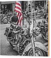 Star Spangled Harley Wood Print