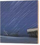 Star Spangled Wood Print