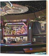 Star Trek The Experience Wood Print by Keith Stokes