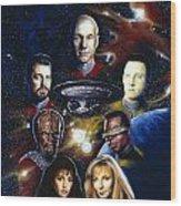 Star Trek Tng Wood Print