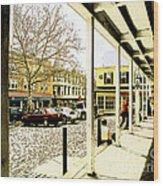 Starbucks - Doylestown Wood Print