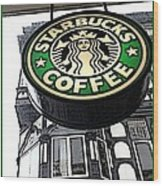 Starbucks Logo Wood Print