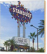 Stardust Sign Wood Print