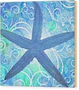 Starfish By Jan Marvin Wood Print