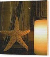 Starfish Candleglow Still Life Wood Print