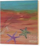 Starfish Wood Print by PainterArtist FIN