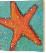 Starfish Wood Print