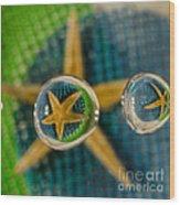 Starfish Refraction Wood Print