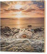 Starfish Sunset Wood Print