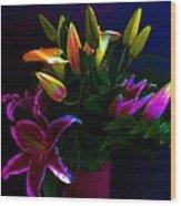 Stargazer Bouquet Wood Print