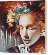 Stargirl I Bleed Color Wood Print