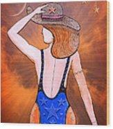 Stargirl Takes Some Sun And Moon Wood Print