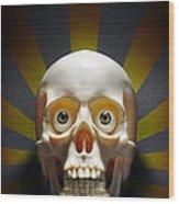 Staring Skull Wood Print