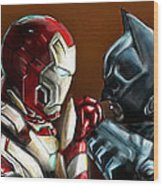 Stark Industries Vs Wayne Enterprises Wood Print