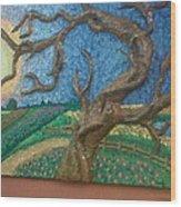 Stark Tree. Wood Print by Geetanjali Kapoor