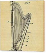 Starke Harp Patent Art 1931 Wood Print