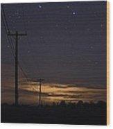 Starlight At Night Wood Print