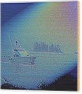 Starlight Cruising Wood Print