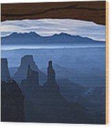 Starlit Mesa  Wood Print by Dustin  LeFevre