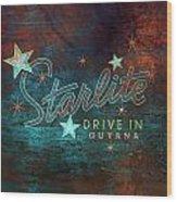 Starlite Drive In Wood Print