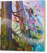 Starr Lynn Holly Berry Fairy Wood Print