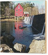 Starr's Mill In Senioa Georgia 2 Wood Print