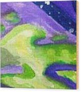 Starry Acid Trip Wood Print