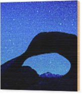 Starry Arch At Mobius Arch, Alabama Wood Print