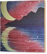 Starry Lake Wood Print